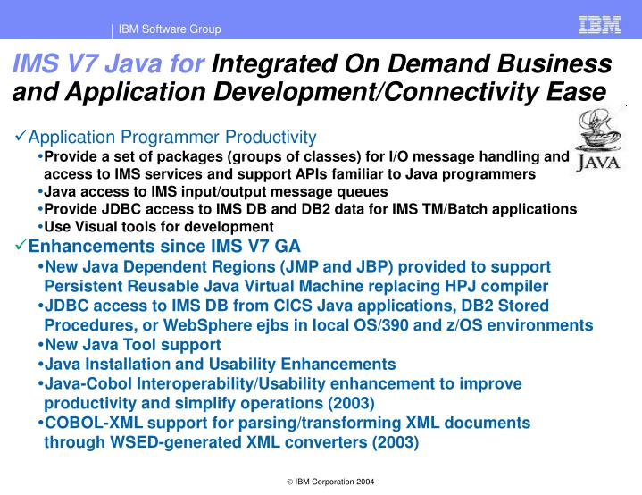 IMS V7 Java for