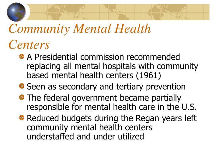 Community Mental Health Centers