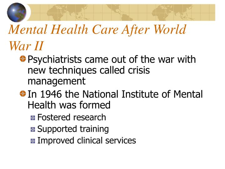 Mental Health Care After World War II