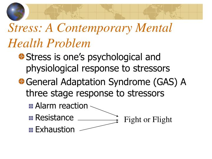 Stress: A Contemporary Mental Health Problem