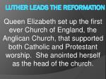 luther leads the reformation12