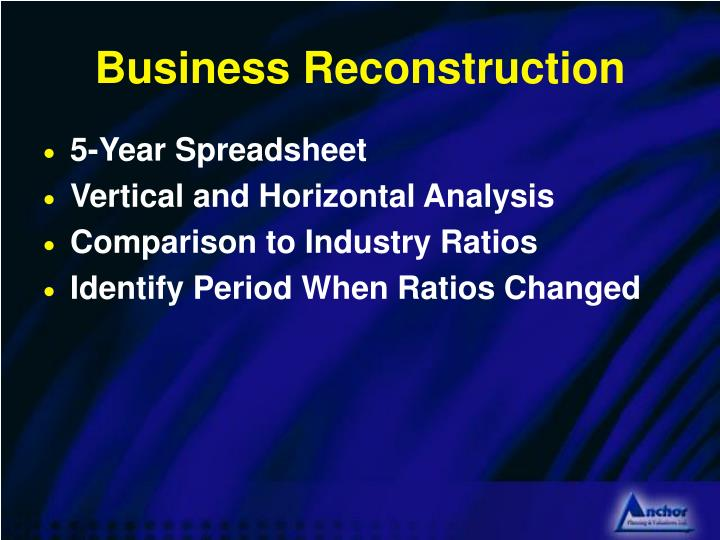 Business Reconstruction