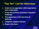 top ten list for attorneys1