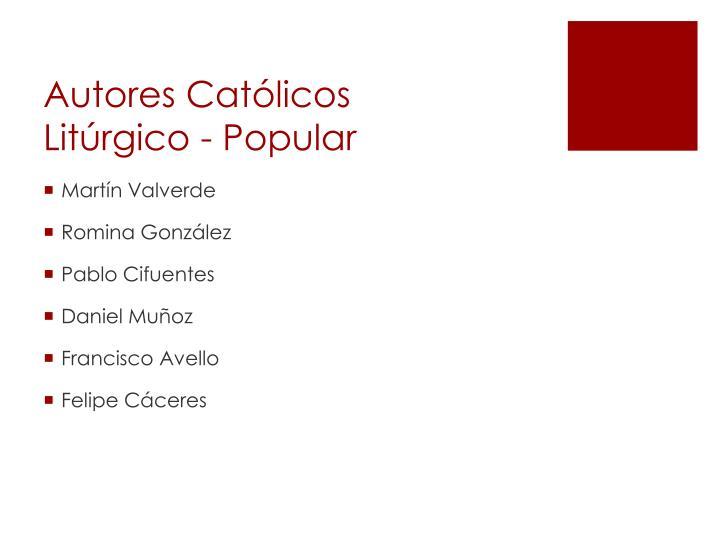 Autores Católicos