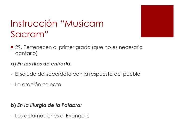 """Instrucción """"Musicam Sacram"""""""