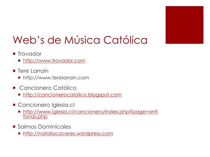 Web's de Música Católica
