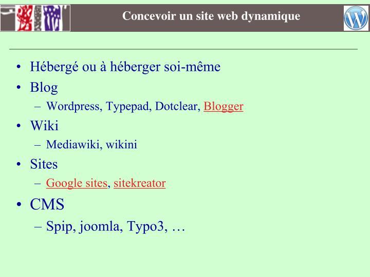 Concevoir un site web dynamique