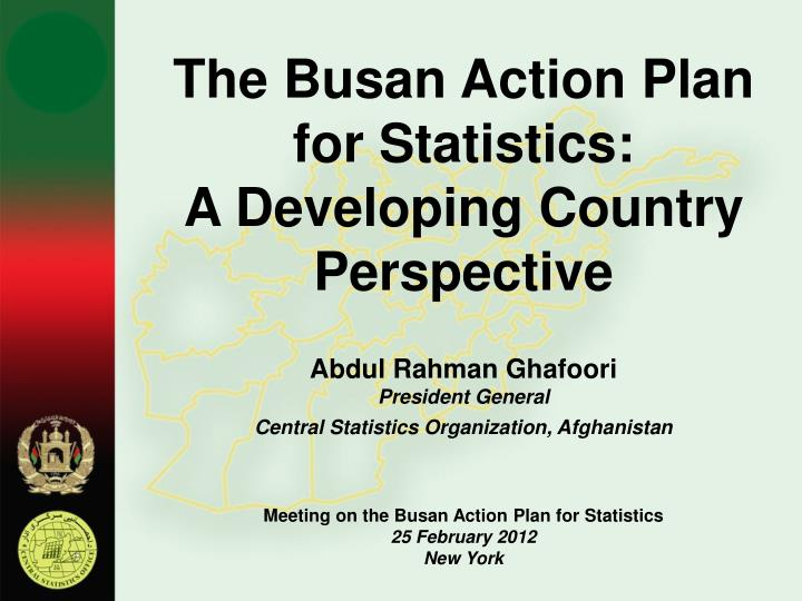 The Busan Action Plan for Statistics: