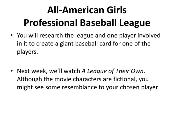 all american girls league , from the management: we have moved the bullpen over to a new temporary server and a new permanent type of setup it's a bit much to explain here, but i think it's working.