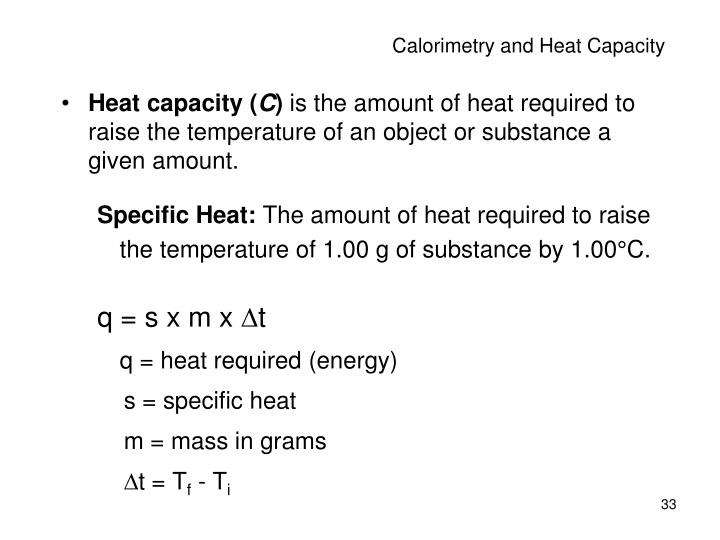 Calorimetry and Heat Capacity