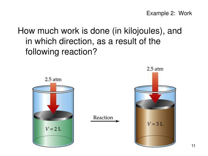 Example 2:  Work
