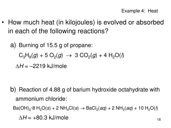 Example 4:  Heat