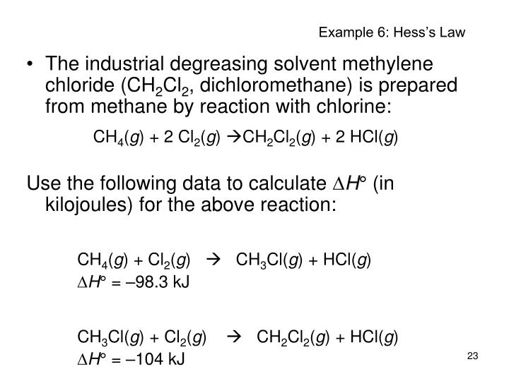 Example 6: Hess's Law