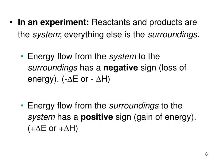 In an experiment: