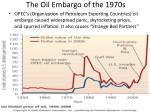 the oil embargo of the 1970s