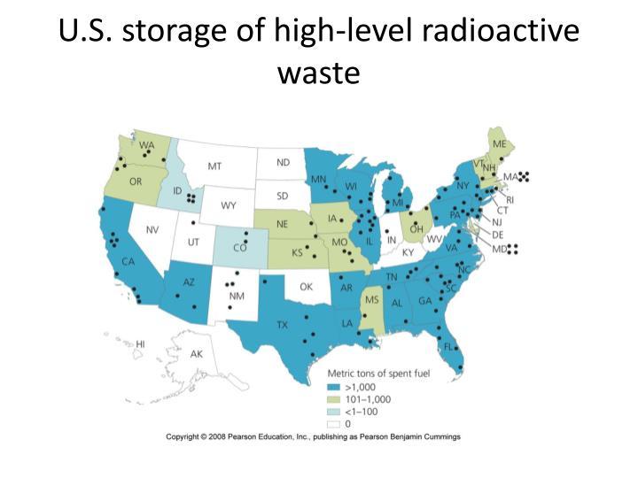 U.S. storage of high-level radioactive waste