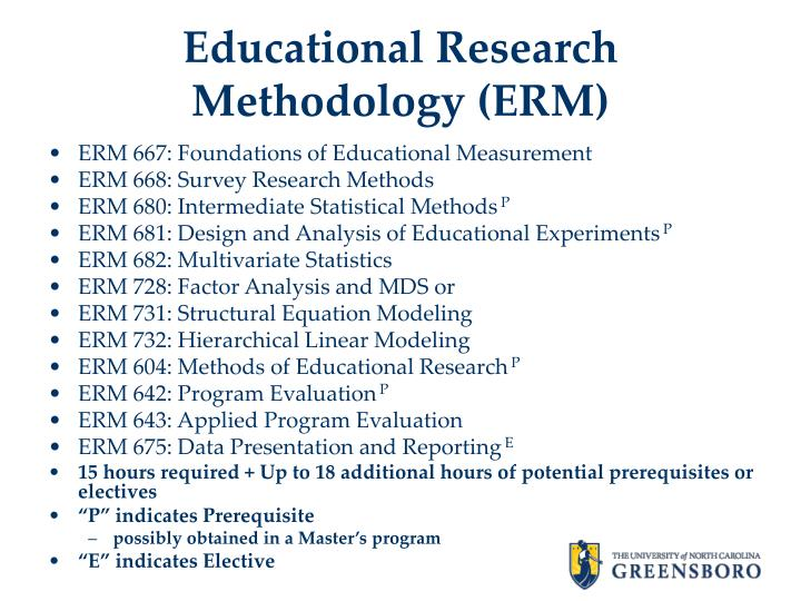 Educational Research Methodology (ERM)