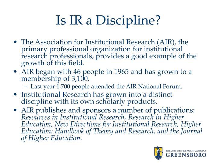 Is IR a Discipline?