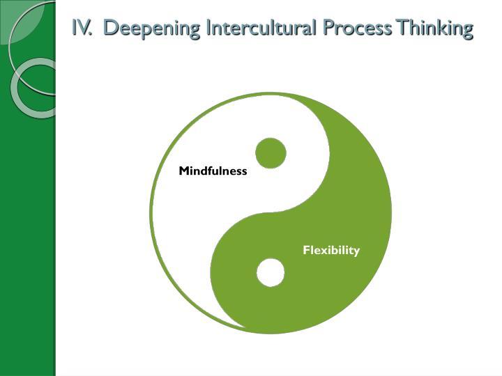 IV.  Deepening Intercultural Process Thinking