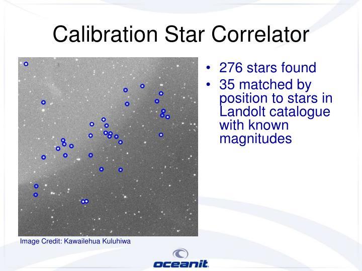 Calibration Star Correlator
