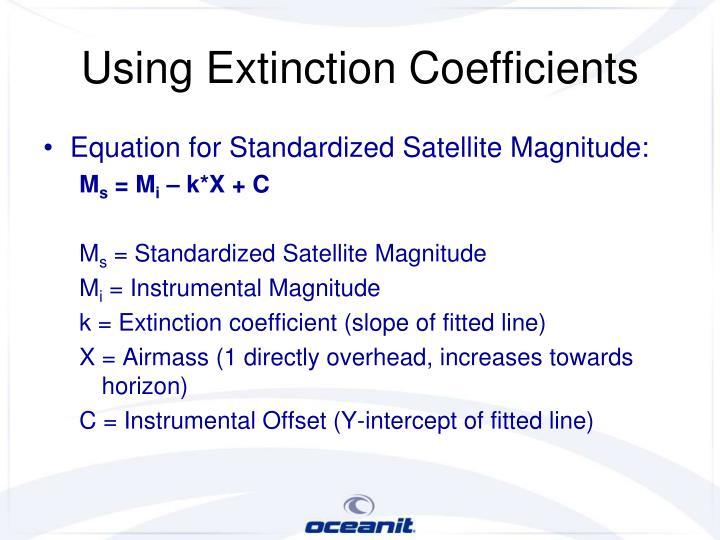 Using Extinction Coefficients