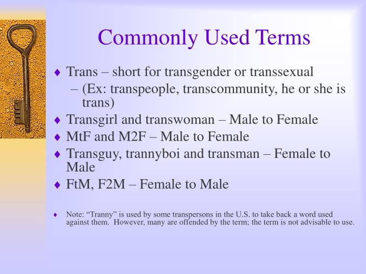 Commonly Used Terms