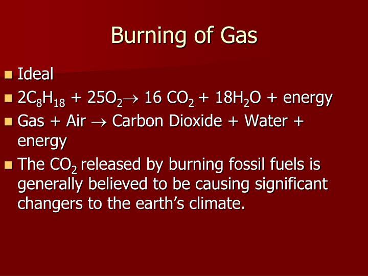 Burning of Gas