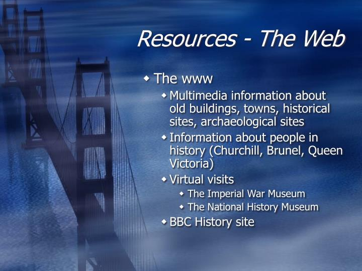Resources - The Web