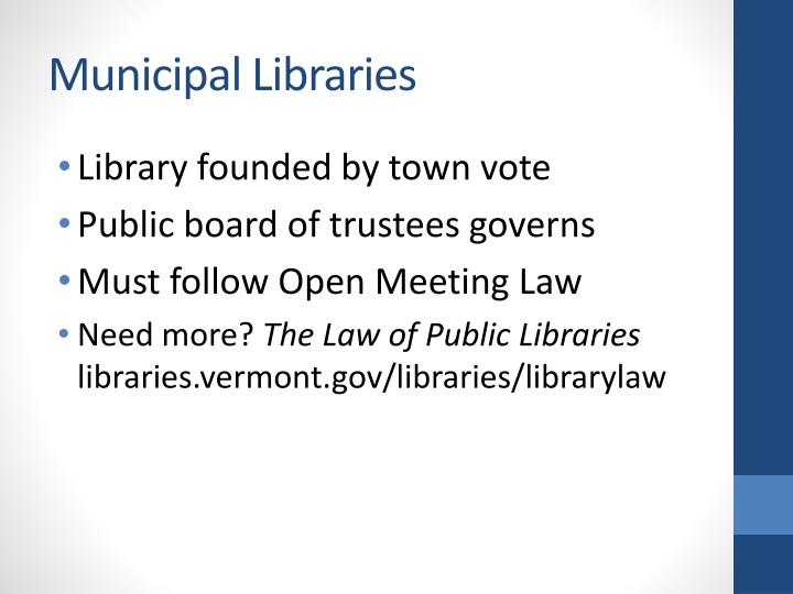Municipal Libraries
