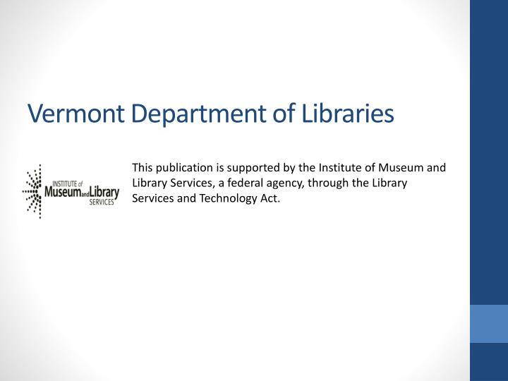 Vermont Department of Libraries