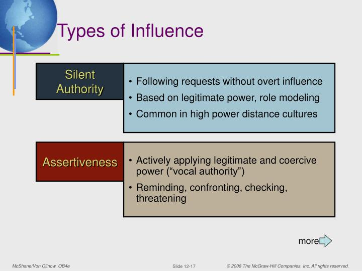power and influence at workplace Power and influence the real issue at hand power and influence when being the boss isn't enough influence the capacity to have an effect on the character.
