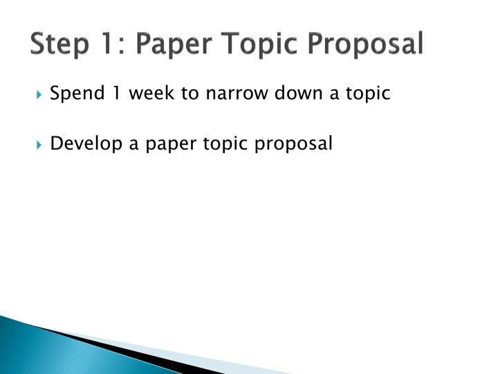 Step 1: Paper Topic Proposal