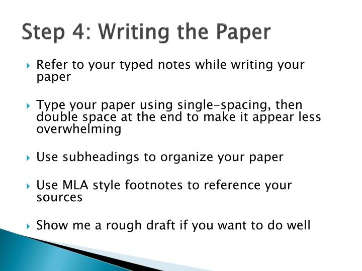 Step 4: Writing the Paper