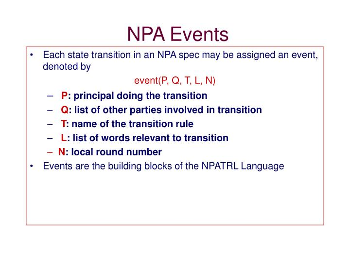 NPA Events