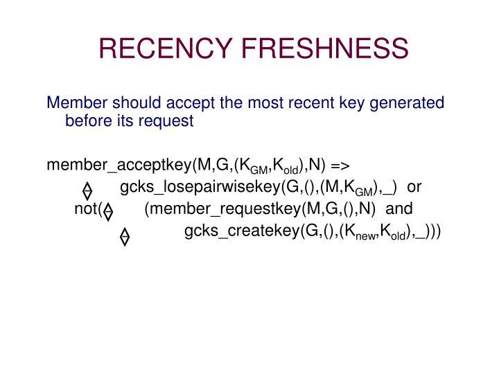 RECENCY FRESHNESS