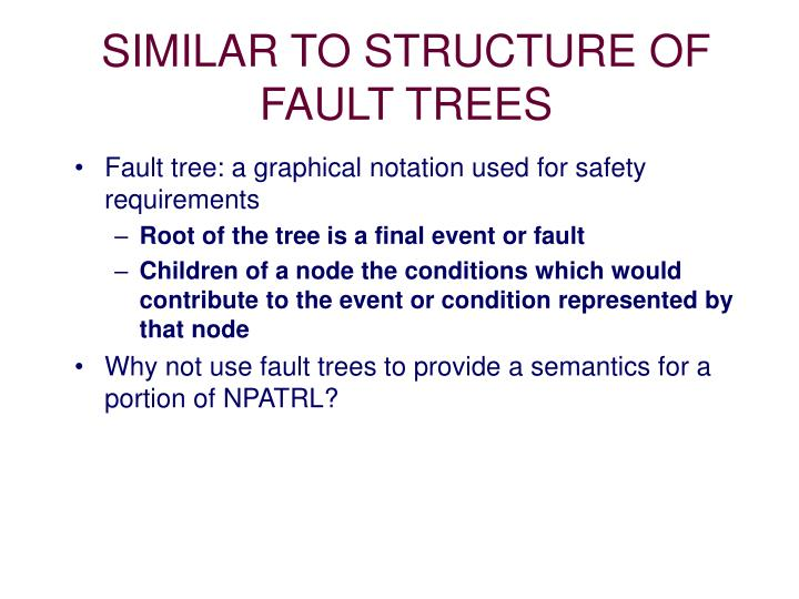 SIMILAR TO STRUCTURE OF FAULT TREES