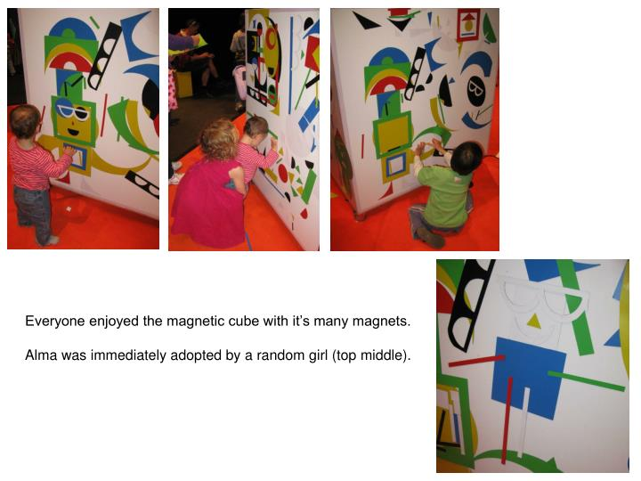 Everyone enjoyed the magnetic cube with it's many magnets.