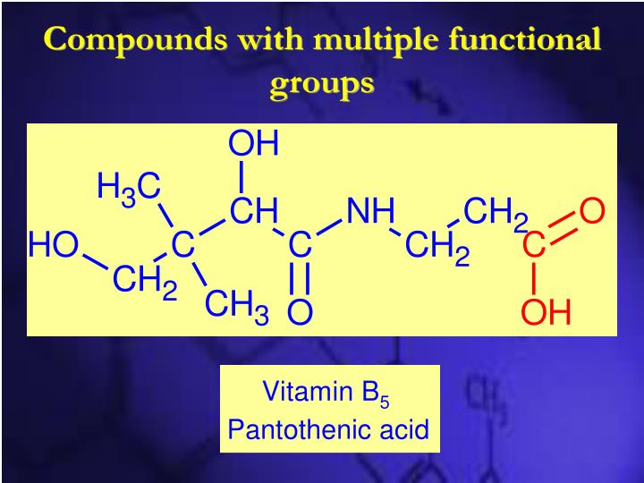 Compounds with multiple functional groups