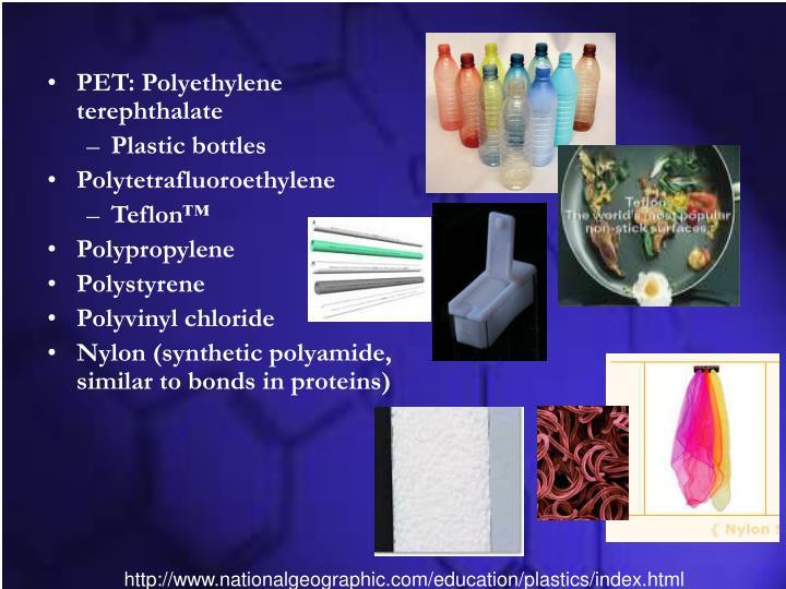 PET: Polyethylene terephthalate
