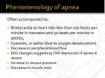 phenomenology of apnea