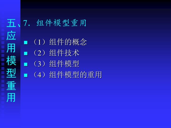 7.组件模型重用