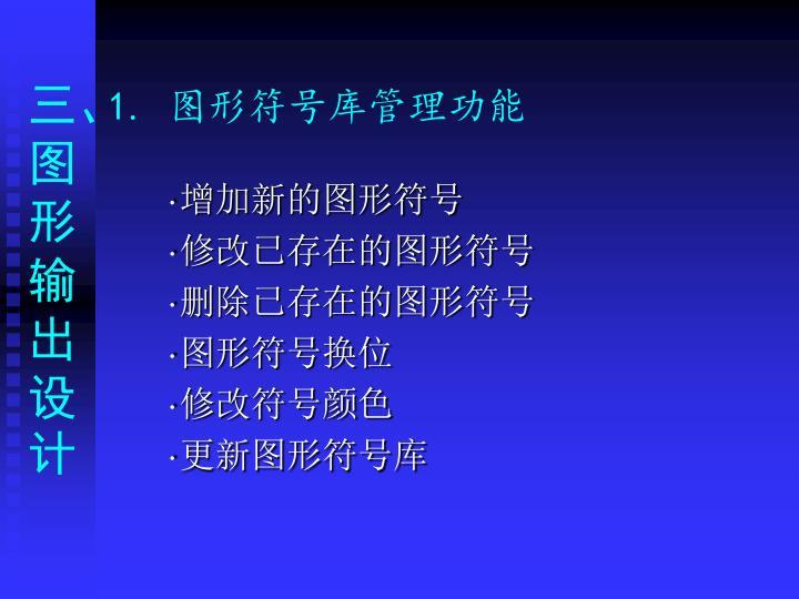 1. 图形符号库管理功能
