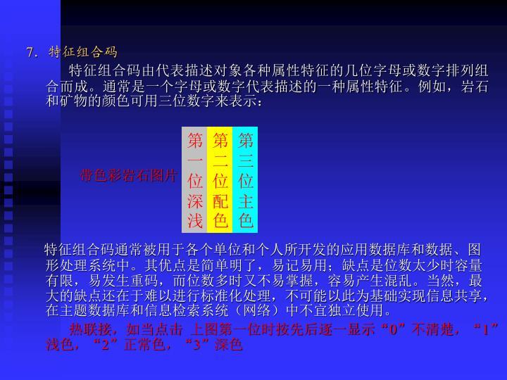 7.特征组合码