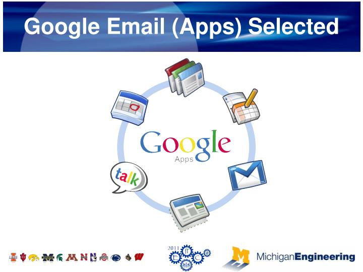 Google Email (Apps) Selected