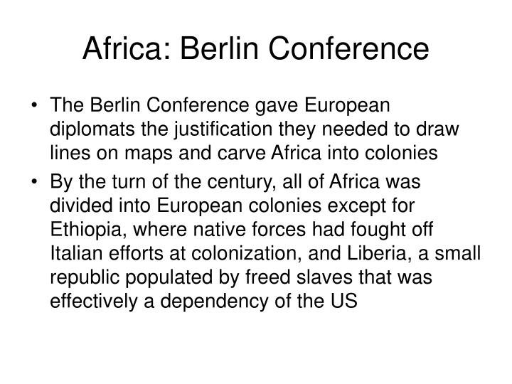 Africa: Berlin Conference