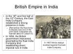 british empire in india