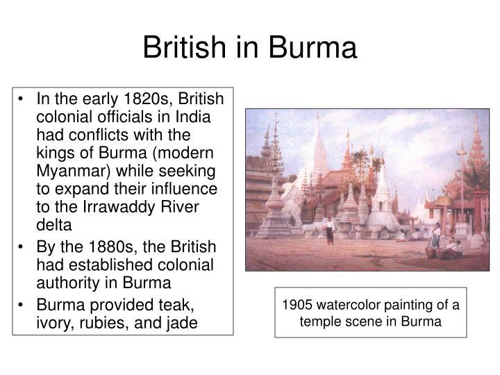 British in Burma