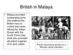 british in malaya