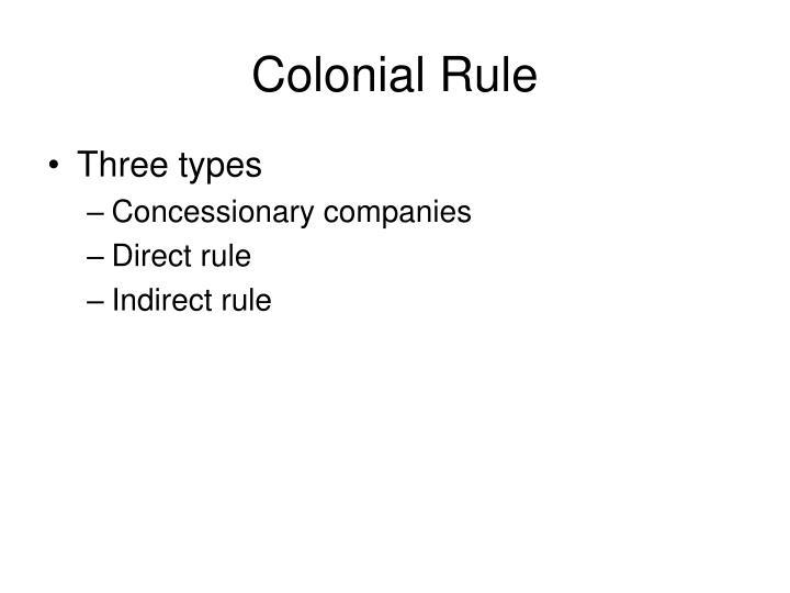 Colonial Rule
