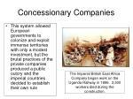 concessionary companies1